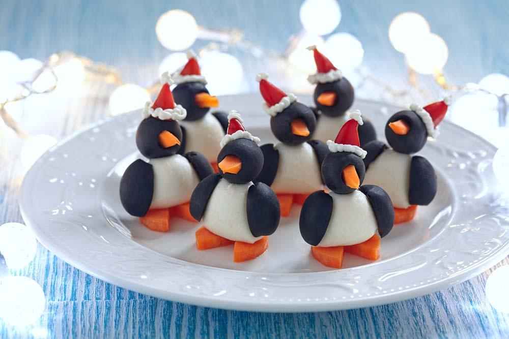 закуски оливковых пингвинов